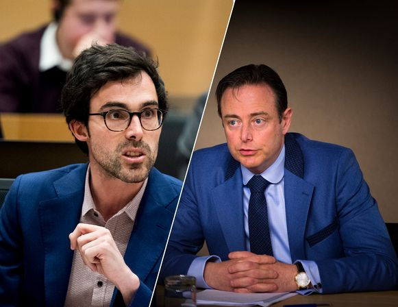 """Kristof Calvo (Groen) als premier? """"De schrik slaat mij om het hart"""", zegt Bart De Wever (N-VA)."""