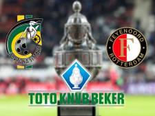 Feyenoord bij Fortuna op jacht naar kwartfinales
