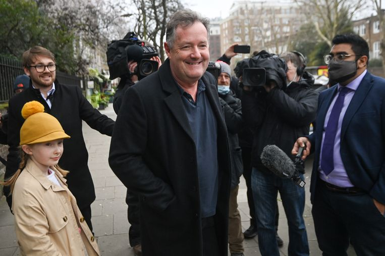 Televisiepresentator Piers Morgan in Londen. Beeld REUTERS