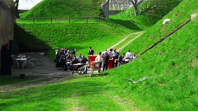 Genieten op Fort Sabina. Van kunst en de omgeving.