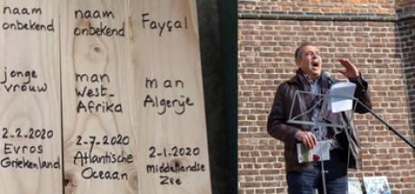 Herdenking op Domplein in Utrecht voor 44.000 doden vluchtelingencrisis Europese grenzen