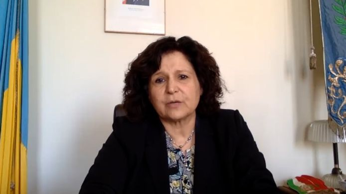 La maire de San Mauro Pascoli, Luciana Garbuglia.