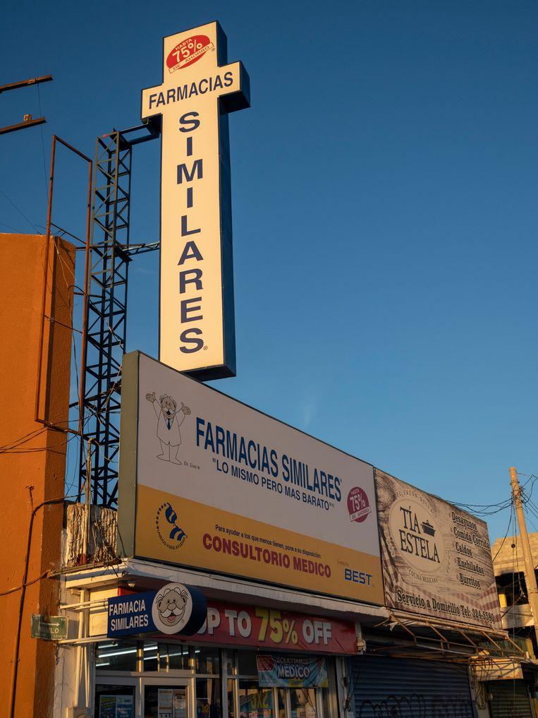 In Juarez zijn pillen die  abortus opwekken te koop bij de apotheek.  Beeld Chantal Heijnen