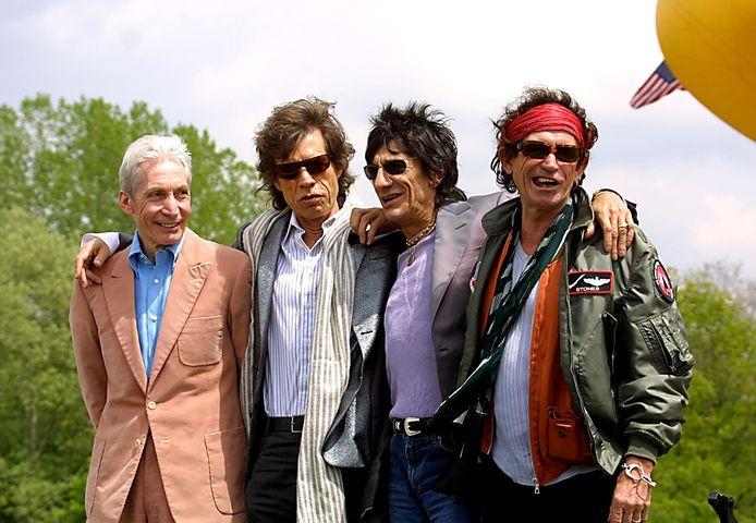 Van links naar rechts: Charlie Watts, Mick Jagger, Ron Wood en Keith Richards.