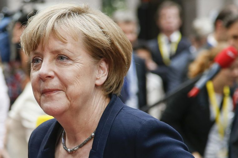 Duits bondskanselier Merkel. Beeld BELGA