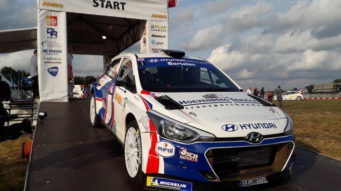 Start van Bob de Jong start in de GTC Rally van 2019, toen de Essenaar zijn thuisrally voor de derde keer won.