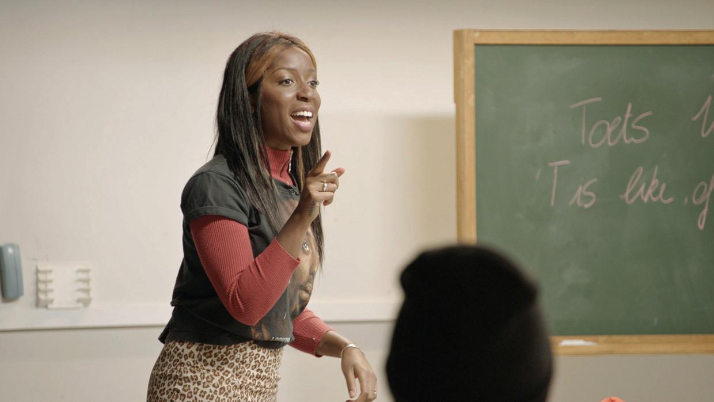 Charlotte Adigéry in 'De klas' Beeld © VRT