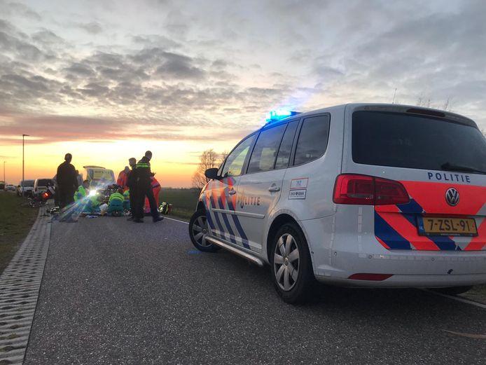 Politie ter plaatse aan de Kortenhoevendijk.