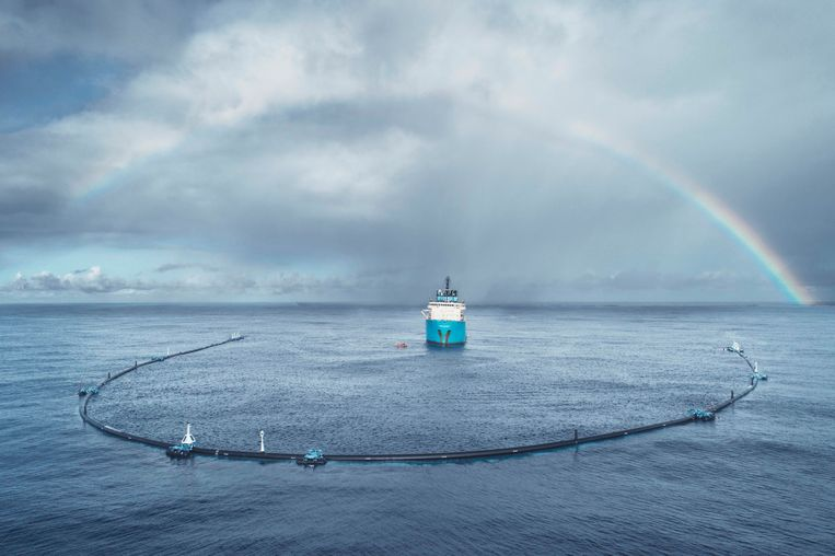 De Ocean Cleanup.  Beeld The Ocean Cleanup