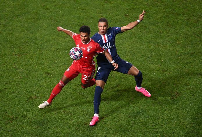 Serge Gnabry in actie tijdens de Champions League-finale van vorig seizoen.