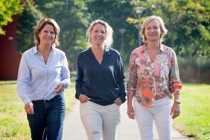 Lucette Kolkman, Anoek Beekhuizen en Annette Hillen (vlnr) van Samen Uit Elkaar