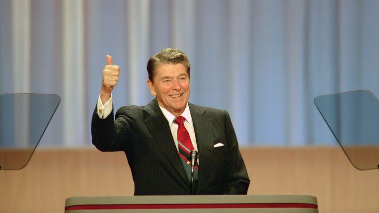 Ronald Reagan in 1988. Beeld RV