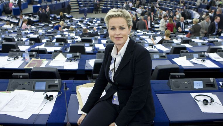 Laurence Stassen in het Europees Parlement. © ANP Beeld null