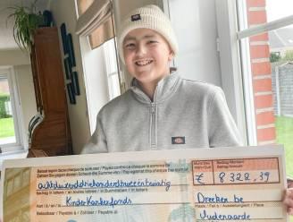 Kankerpatiënt Dree'ken (12) verdiende met eigen kledingverkoop ruim 8.300 euro voor Kinderkankerfonds