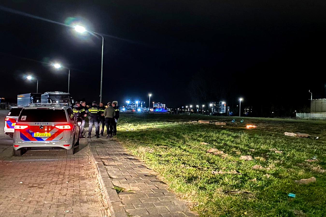 Vanaf de Kerkeplaat in Dordrecht werd donderdagavond een 'vuurwerkshow gegeven'.