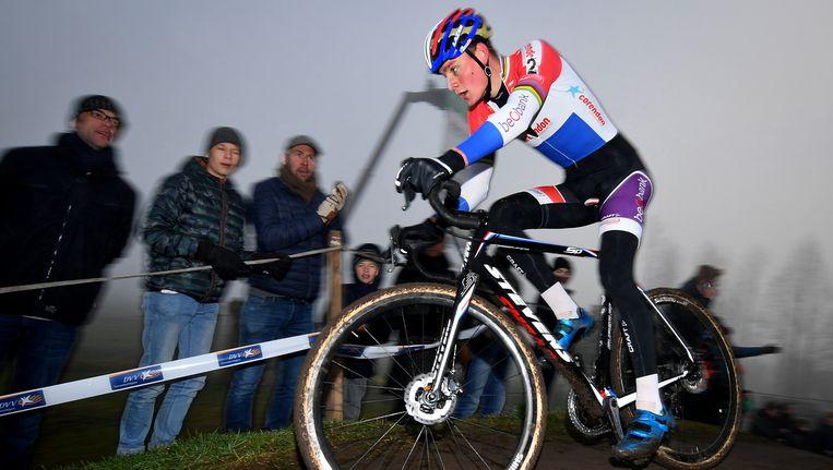 Mathieu van der Poel in Loenhout. Beeld BELGA