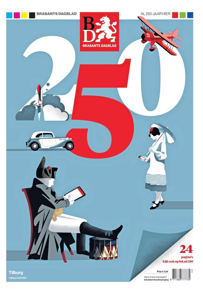 2 juli 2021: de nieuwste voorpagina, exact 250 jaar na de eerste.