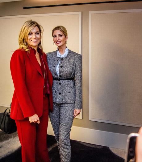 Ivanka Trump twittert trots foto met koningin Máxima