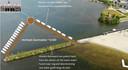Optie 2: de zwemlocatie wordt gerealiseerd aan de noordzijde van de strekdam van het Strandeiland.