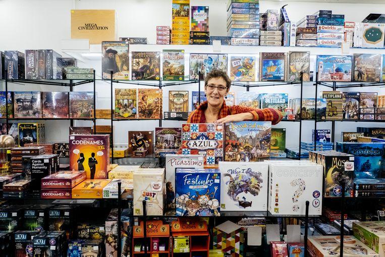 Speelgoed Mertens in Leuven was de allereerste winkel in Vlaanderen die 'De kolonisten van Catan' verkocht. Beeld Wouter Van Vooren