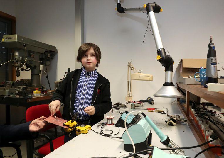 De 9-jarige Laurent Simons. Beeld REUTERS