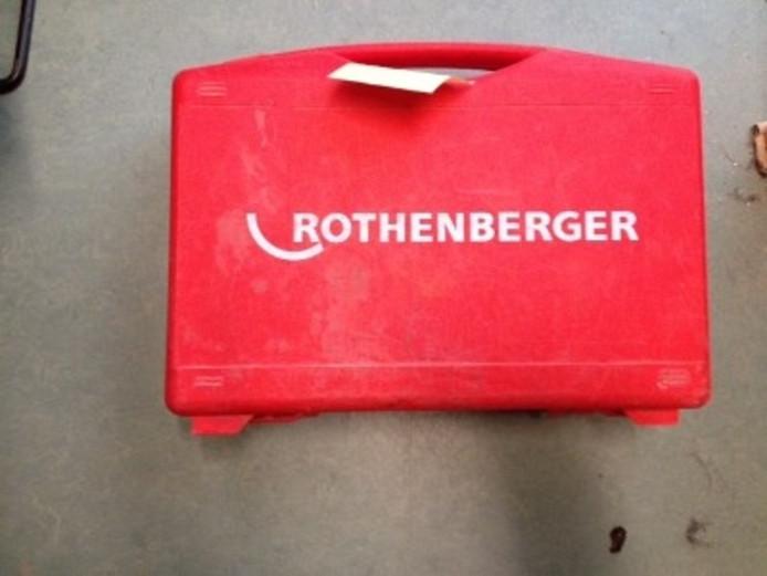 Een mogelijk gestolen gereedschapskist van het merk Rothenberger.