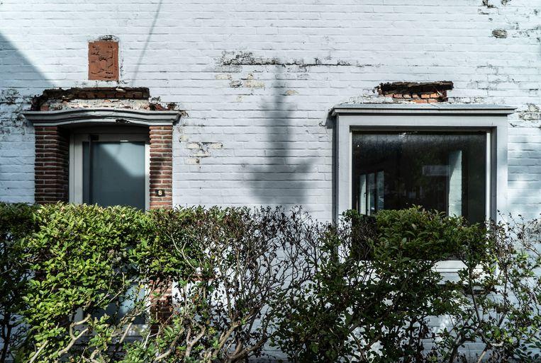 Een sociale woning in de wijk Malem in Gent, de buurt waar sp.a-fractieleider Anne Schiettekatte woont. Beeld BELGA