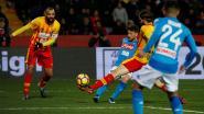 De lobbalkoning van Napoli: Dries Mertens scoort in Benevento op heerlijke wijze nummer veertien, maar valt ook gekwetst uit
