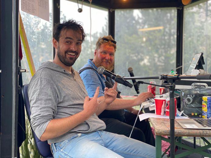 Joris Hessels en Dominique Van Melder in de studio.