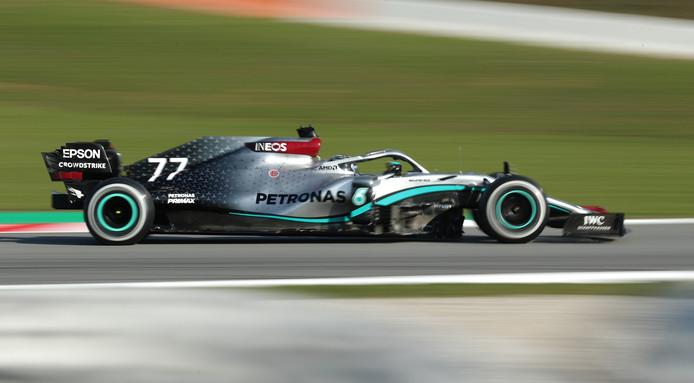 Valtteri Bottas in zijn Mercedes.