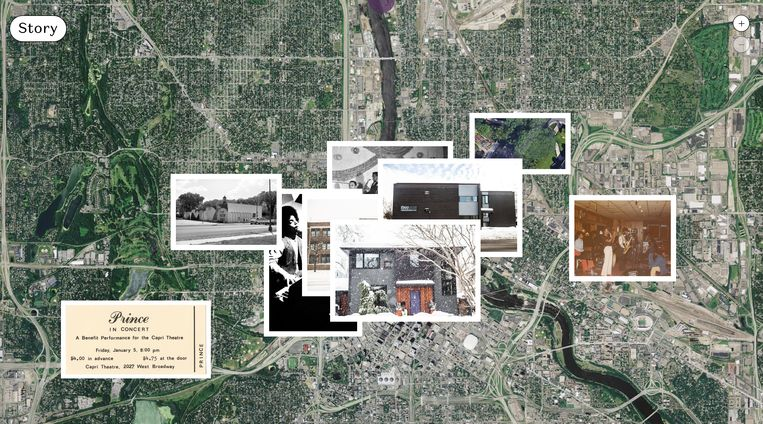 Base Design lanceerde de immersive experience 'Becoming Prince', over het leven van de artiest in Minneapolis.  Beeld The Prince Estate