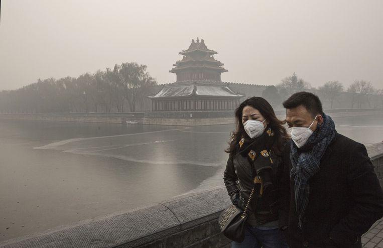 ► China kampt met een torenhoge CO2-uitstoot. Een almaar groeiende economie doet daar geen goed aan. Beeld Getty Images