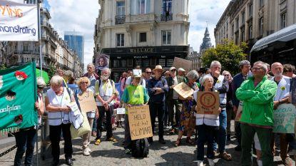 Klimaatactivisten houden symbolische actie aan Europese Raad