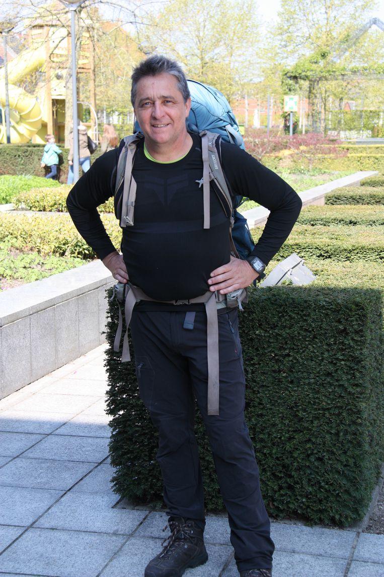 Bart Halewyck bij z'n vertrek in april in Gistel