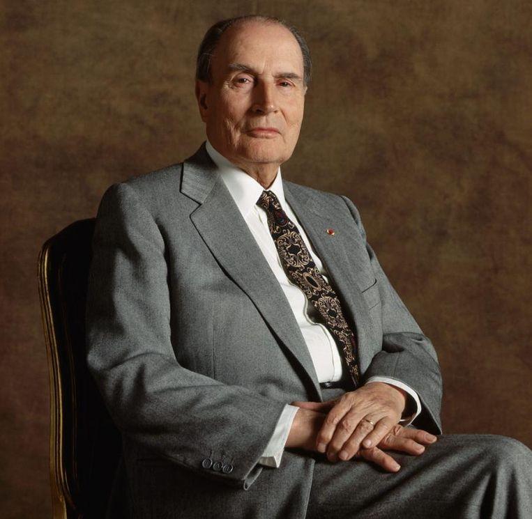 Voormalig Frans president François Mitterrand. Beeld rv