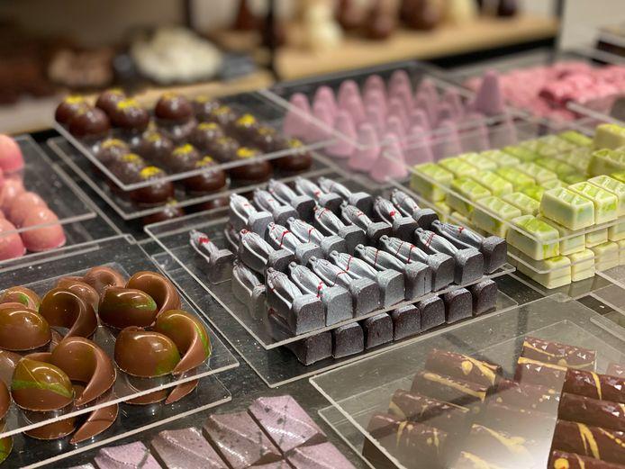 De Bloody Mary pralines van chocolatier Vandenbouhede.