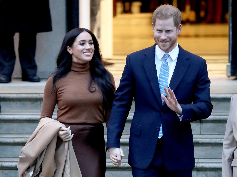 Meghan Markle en Prins Harry Beeld Getty Images