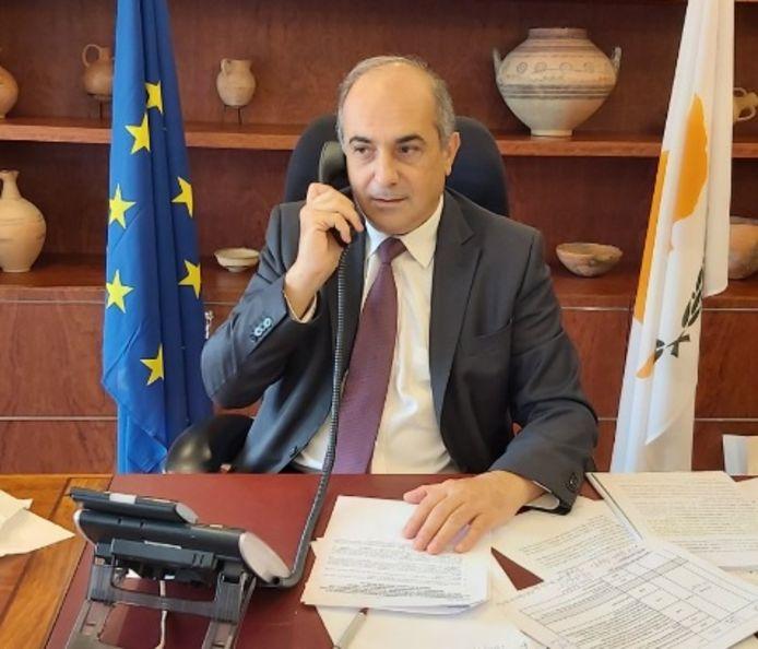Parlementsvoorzitter Demetris Syllouris heeft zijn taken neergelegd.