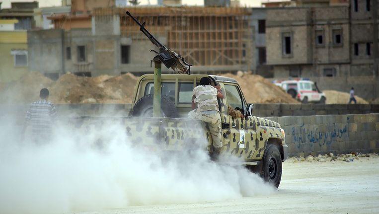 Libië gaat gebukt onder de grootste geweldsgolf ooit. Beeld epa