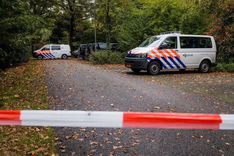 De politie doet onderzoek in de omgeving van de psychiatrische kliniek Altrecht Aventurijn.  Beeld ANP