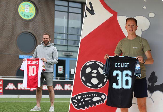 Jesper van den Bosch en Leon Bot 'scoorden' allebei een shirt van een tegenstander.