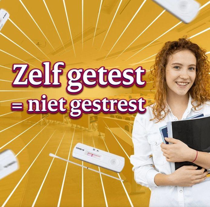 Via een website kunnen studenten en medewerkers zelftests aanvragen.