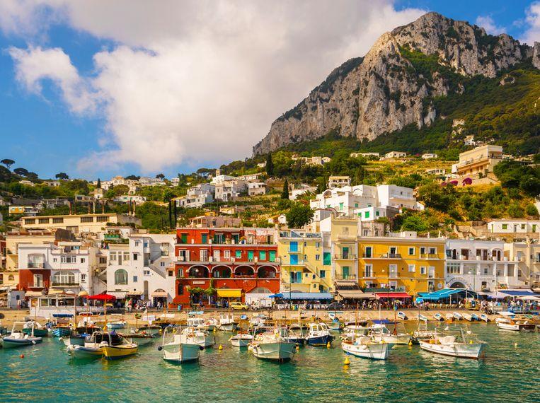 Het Italiaanse eiland Capri Beeld Getty Images