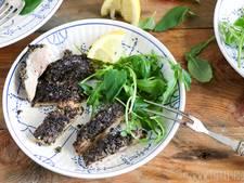 Gevulde kip met zwarte olijventapenade