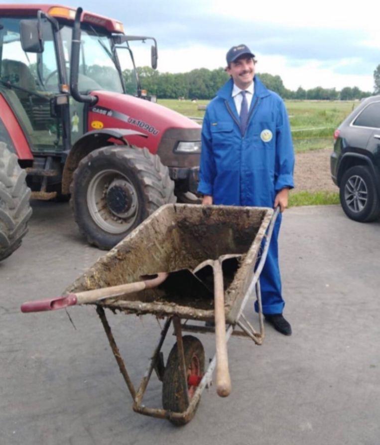 Bij het boerenprotest Beeld Foto FvD