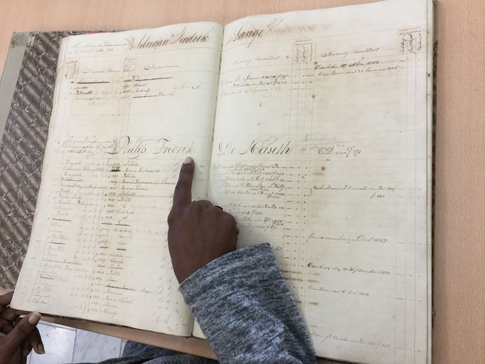 Een slavenregister.