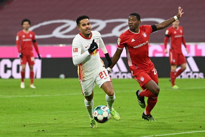 Justin Kluivert maakte zijn enige Bundesliga-treffer dit seizoen op bezoek bij Bayern München (3-3 gelijkspel).