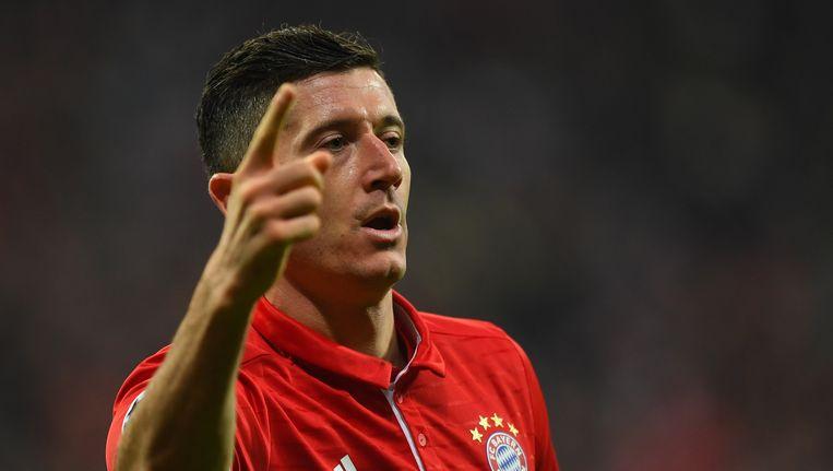Robert Lewandowski moet met Bayern voorbij Wolfsburg in de Duitse beker. Beeld Bongarts/Getty Images