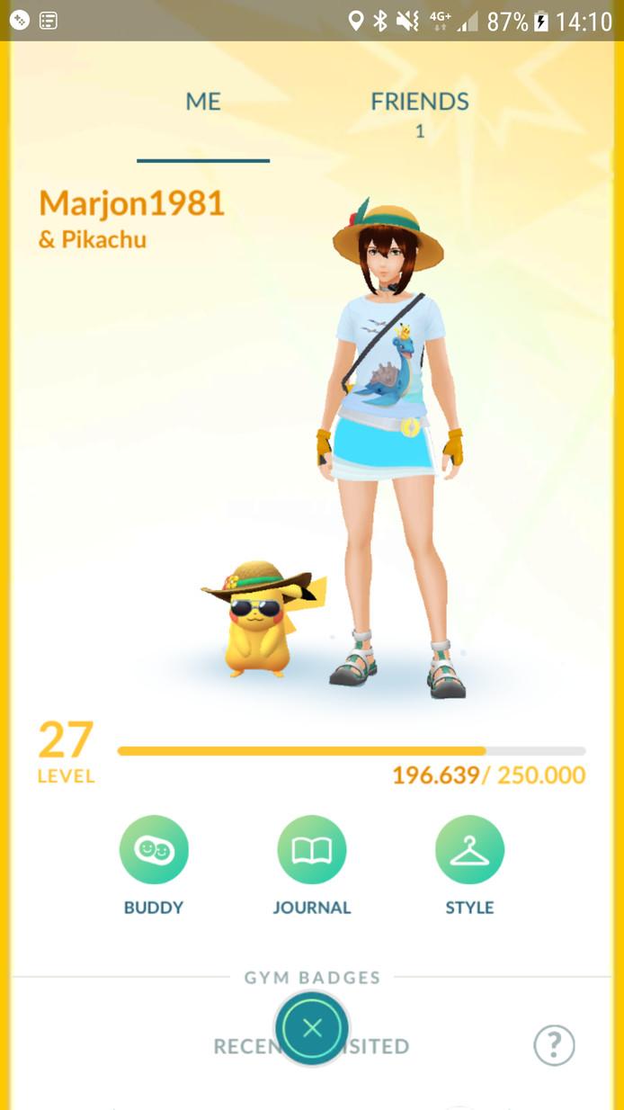 Marjon en haar Pikachu