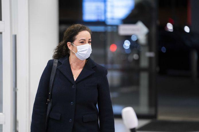 Burgemeester Femke Halsema van Amsterdam arriveert voor het Veiligheidsberaad.
